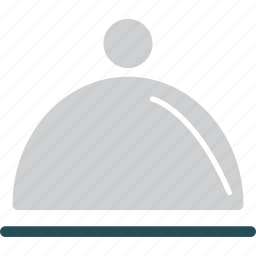 covered food, food, hotel service, serving plate icon