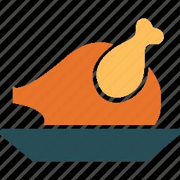 chicken, chicken roast, roast, roasted chicken icon