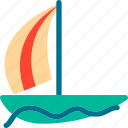 boat, sailboat, ship, travel icon