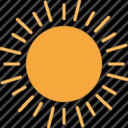 day, forecast, sun, sunny icon