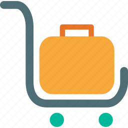 handtruck, luggage, platform truck, travel icon