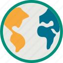 earth, globe, world, world map icon