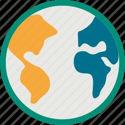 earth, globe, world, world map icon