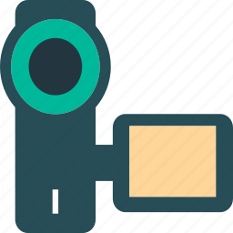 camcorder, camera, movie camera, video camera icon