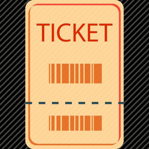 cinema, movie, ticket, travel icon