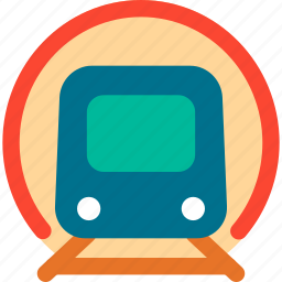 cortege, train, transport, underground train icon
