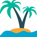 palmtree, travel, tropical, vacation icon