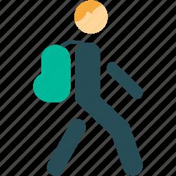 hiker, travel, voyager, walker icon