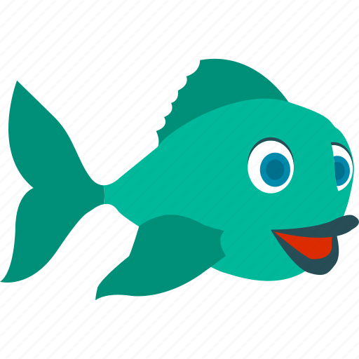 animal, fish, fishing, food icon