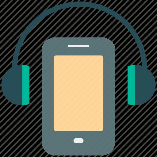 communication, headphone, listening, mobile icon