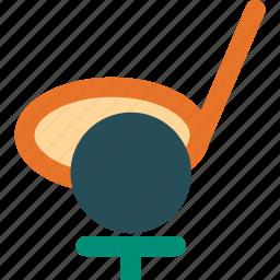 game, golf, golf ball, golf stick icon