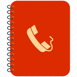 address book, contact notebook, contacts, phone book icon