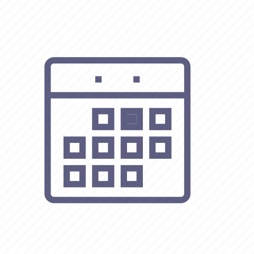 almanac, calendar, date, month, schedule, timetable, timing icon