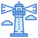 architecture, beach, lighthouse, tower icon