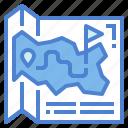 location, map, park, travel icon