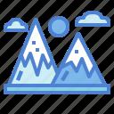 holidays, landscape, mountain, nature icon
