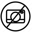 camera, film, image, movie, multimedia, prohibited icon