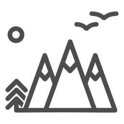 air, forest, fresh, mountains, nature, tent, tourism icon