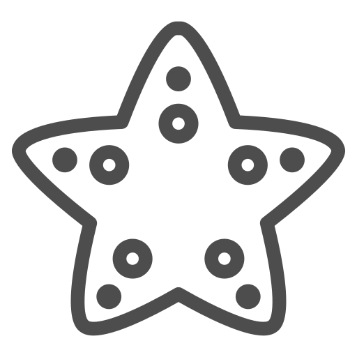 animal, fish, ocean, sea, star, travelling, water icon