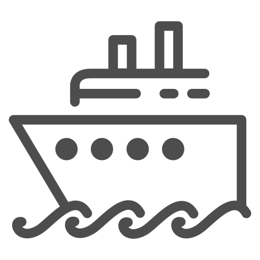 boat, cruise, ocean, sea, ship, travelling, water icon