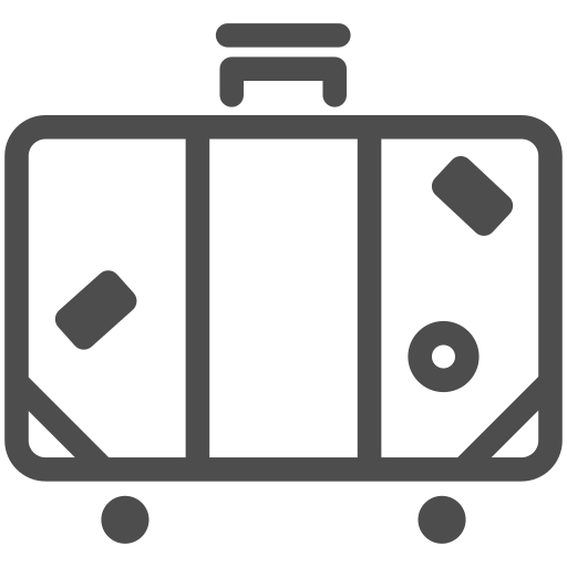 airport, baggage, journey, luggage, suitcase, train, trip icon