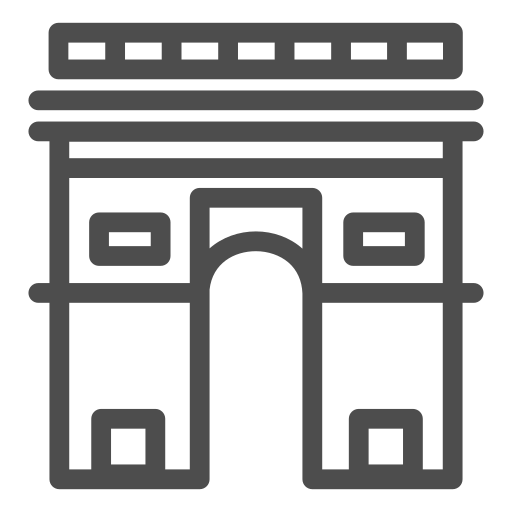 arc, france, paris, sight, travelling, trip, triumf icon