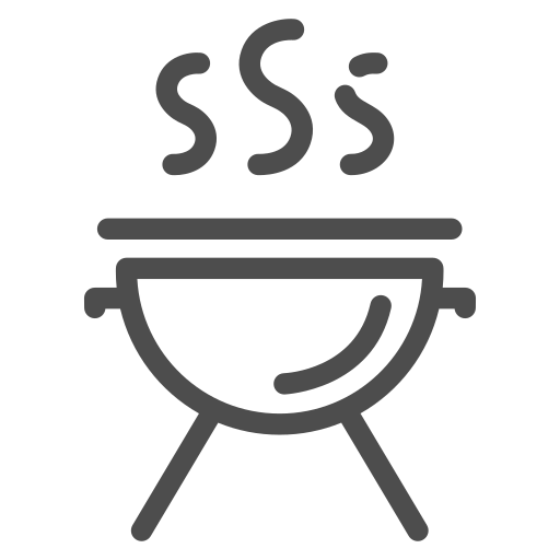 barbecue, fire, food, holiday, meat, rest, summer icon