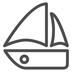 boat, freedom, ocean, sea, seaside, travelling, wind icon