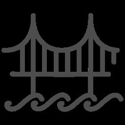 bridge, gate, golden, sight, travelling, usa, view icon