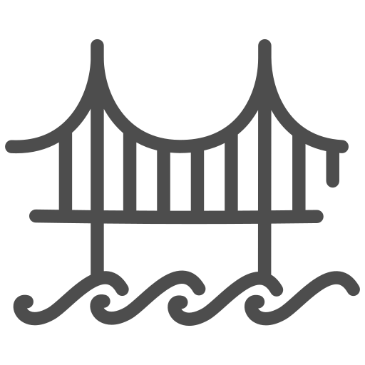 bridge, gate, golden, sight, travelling, usa, view icon