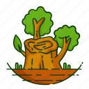 forest, leaf, nature, plant, tree icon