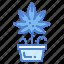 leaf, marijuana, nature, weed icon