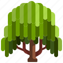 botanical, garden, gardening, tree, willow, yard icon