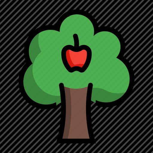 apple, fruit, malus, plant, tree icon