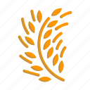 cereal, plant, rice, triticum, wheat icon