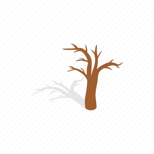forest, isometric, naked, nature, plant, shadow, tree icon