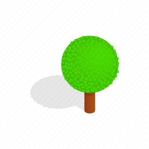 forest, isometric, leaf, nature, plant, spherical, tree icon