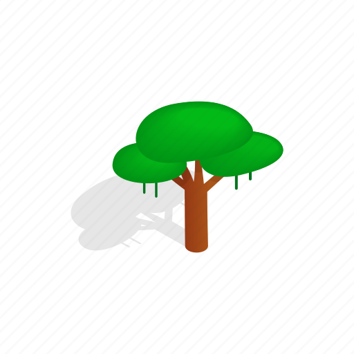 forest, isometric, leaf, nature, plant, shadow, tree icon
