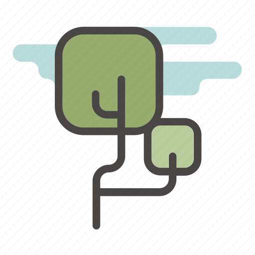 foliage, forest, green, leaves, plant, summer, tree icon