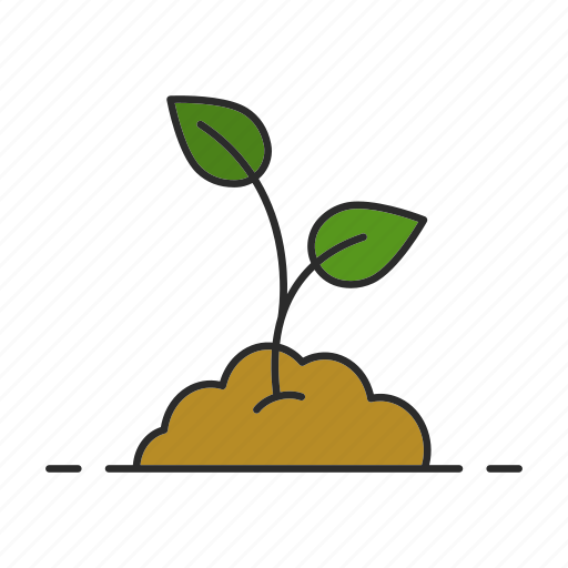 gardening, ground, leaf, nature, plant, sprout, tree icon