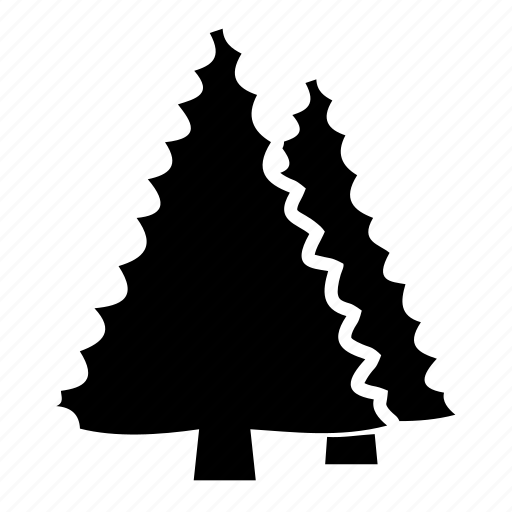 cone, fir, forest, pine, plantation, renewable, spruce trees icon
