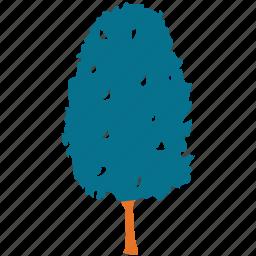 cypress, generic tree, shrub tree, trees icon
