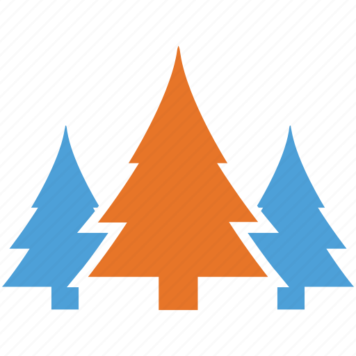 generic trees, pine trees, shrub, trees icon
