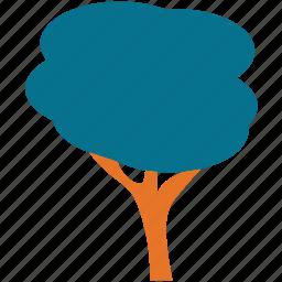 ash, generic tree, shrub tree, tree icon