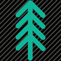 christmas, ecology, nature, redwood, tree icon