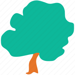 generic tree, oak, shrub tree, tree icon