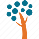 dotted leafs, generic tree, invasive shrub tree, tree icon