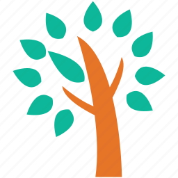 leafy tree, many leaves tree, nature, tree icon