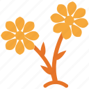 flowering plant, plant, polka flowers, small plant icon