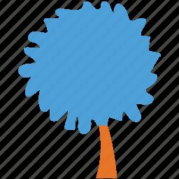 round, shrub, tree, tree silhouette icon